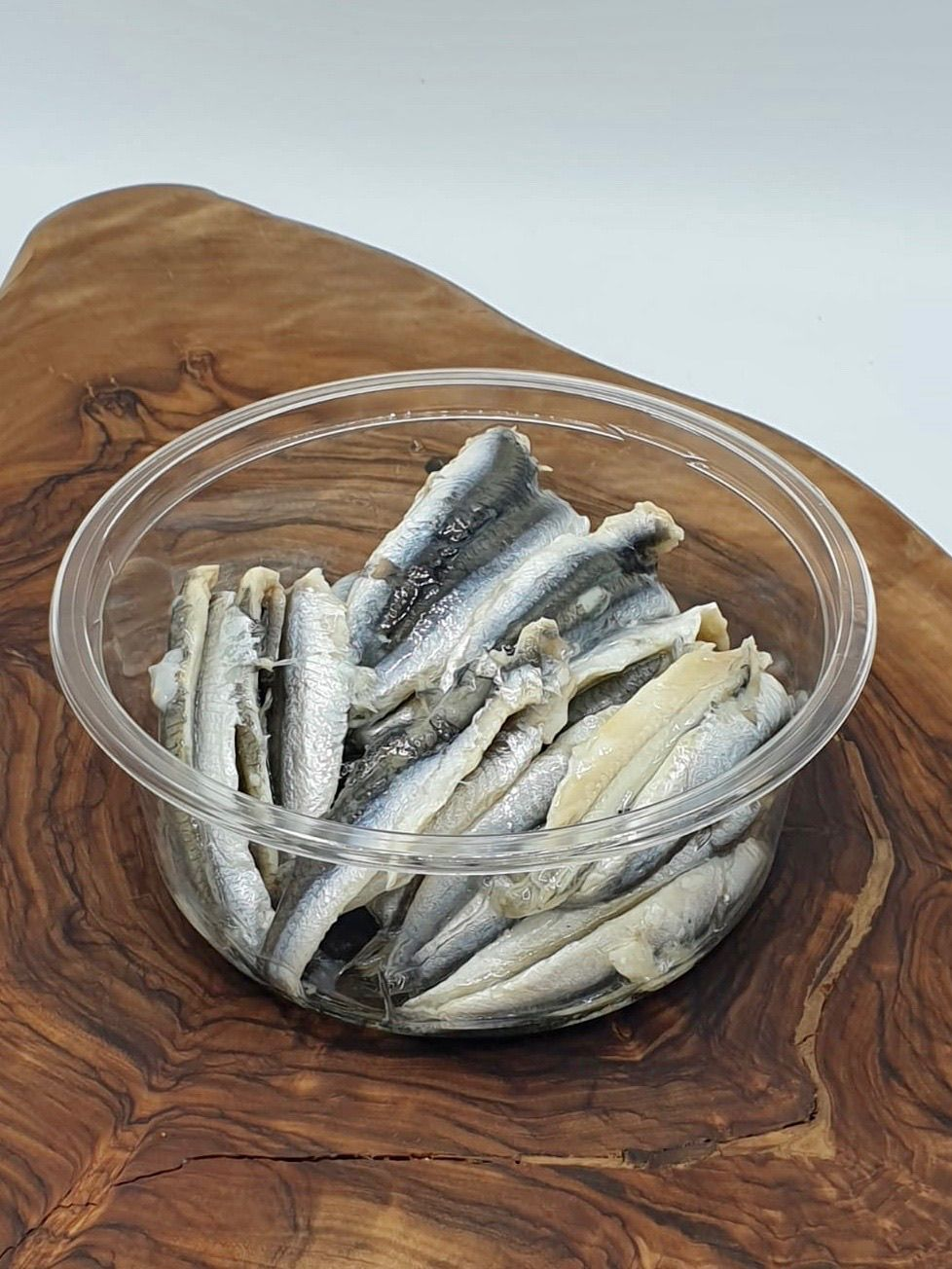 Anchovy Fillets in plain dressing