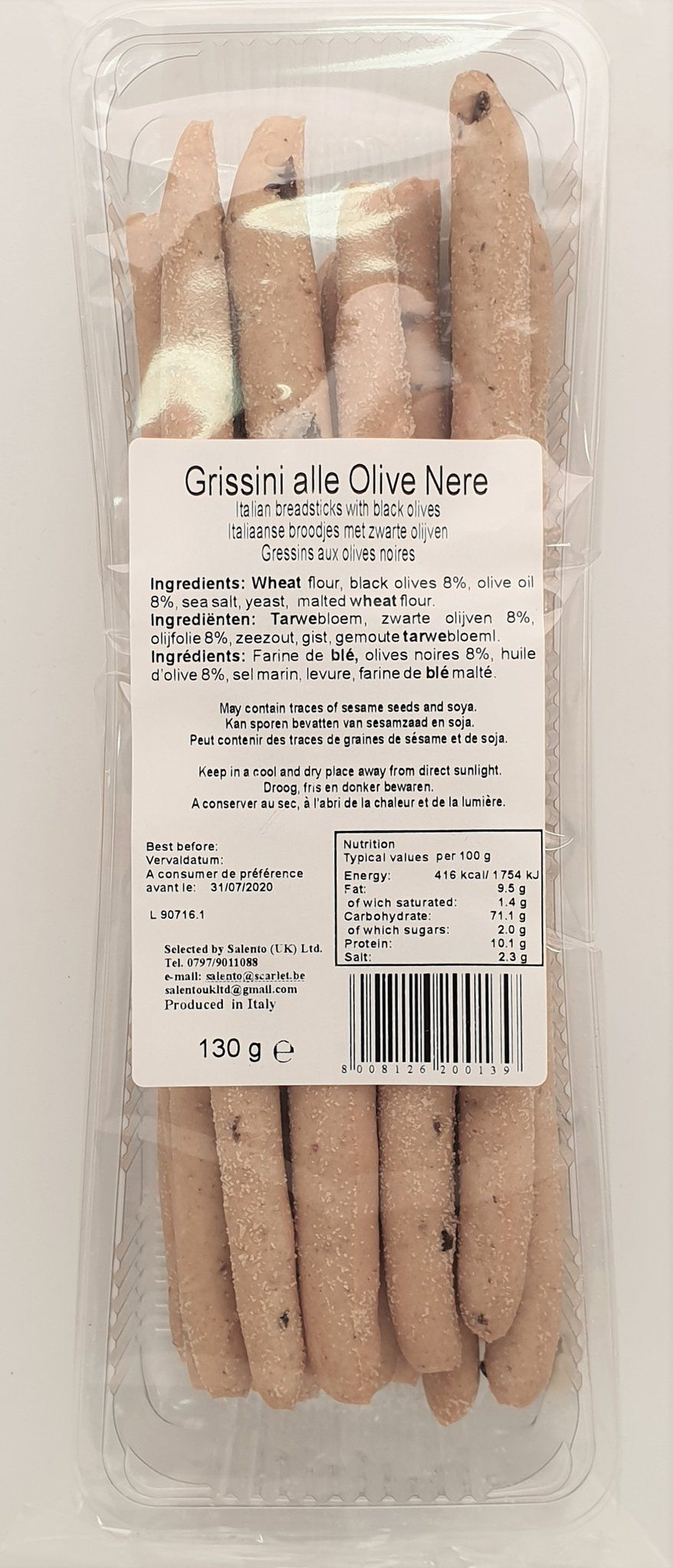 Grissini with Black Olives