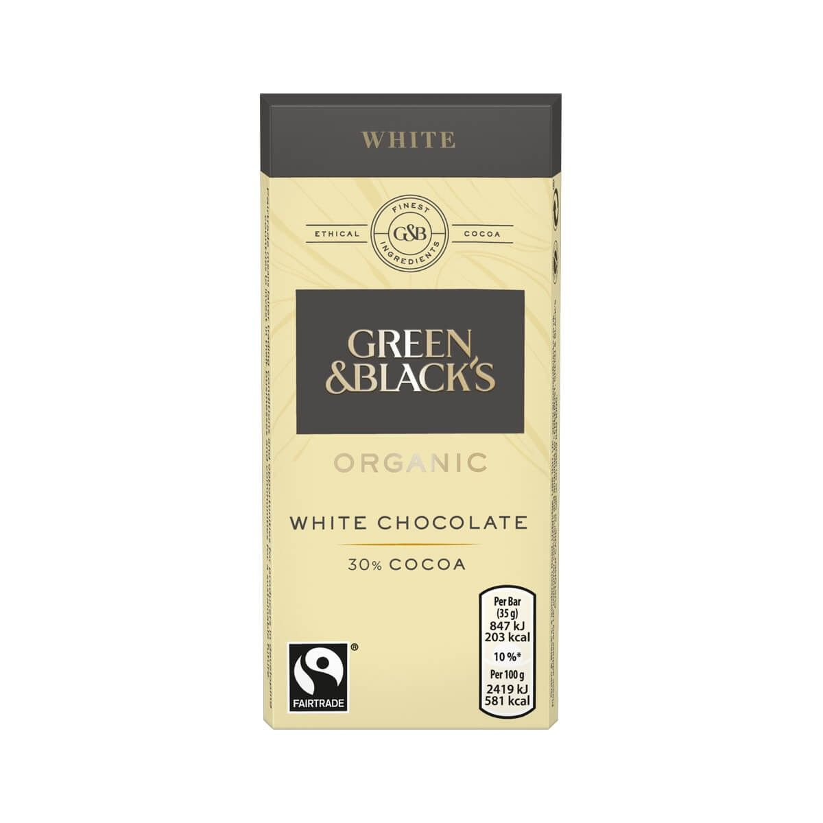 Green & Blacks White Chocolate Bars