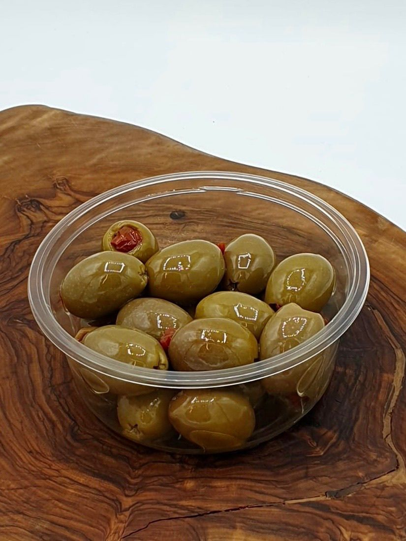 Tomato Stuffed Olives