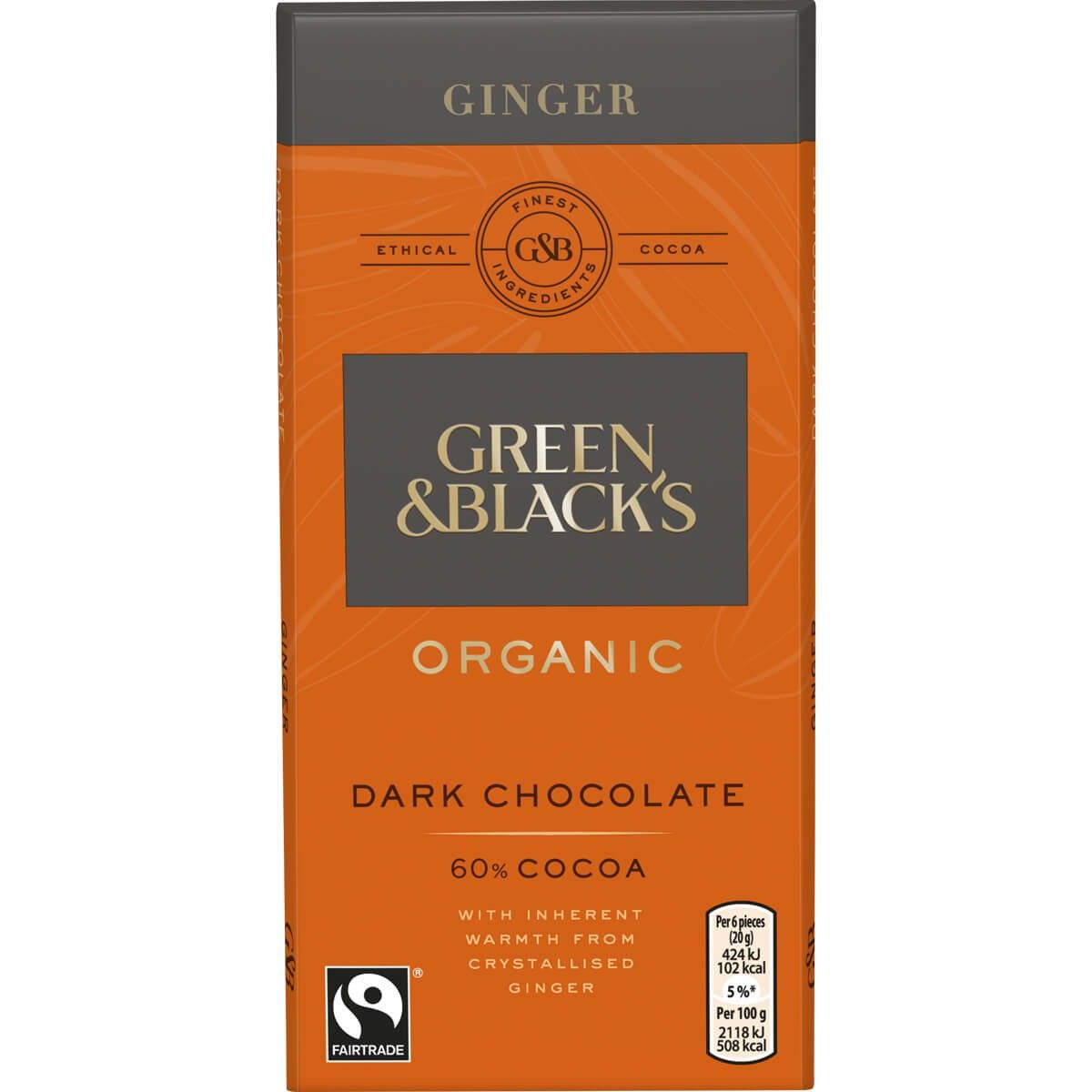 Green & Blacks Ginger Chocolate