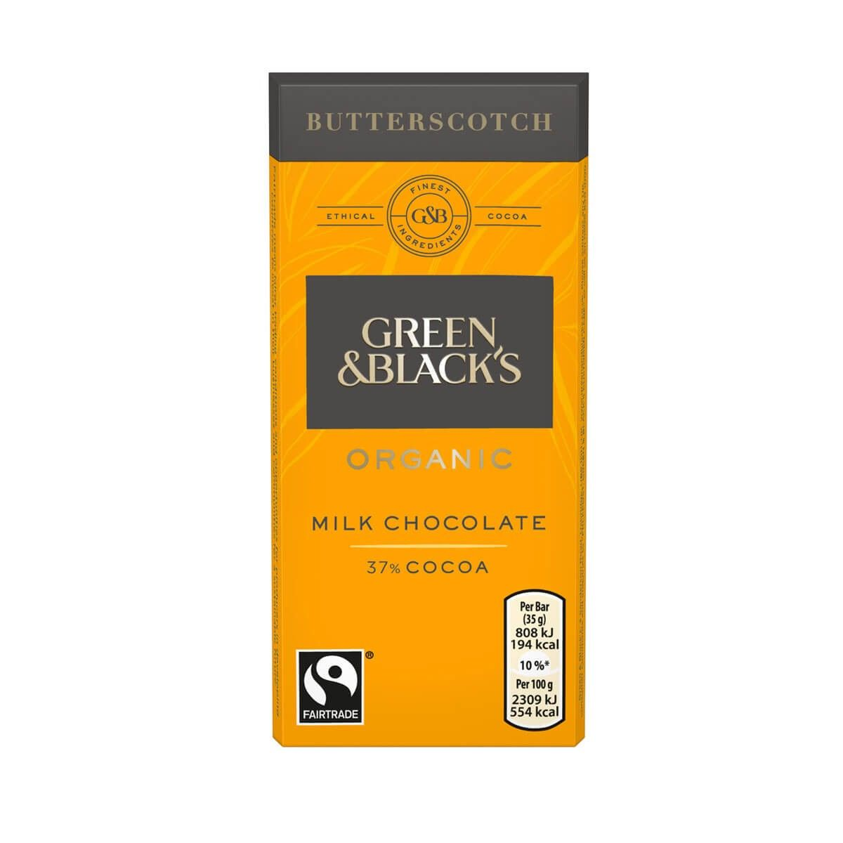 Green & Blacks Butterscotch Chocolate