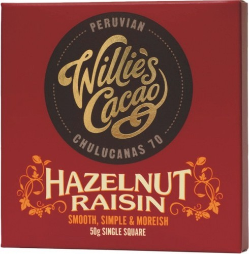 Willie's Peruvian 70 Hazelnut & Raisin
