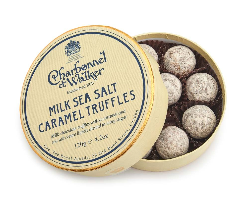 C&W Milk Sea Salt Caramel Truffles Gifting Chocolates