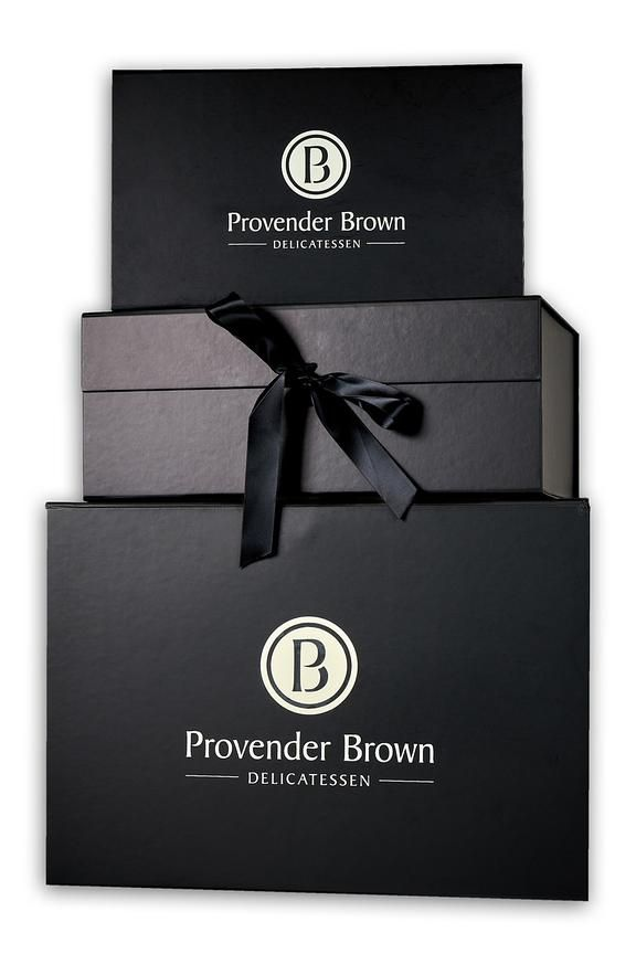Medium Black Hamper Box