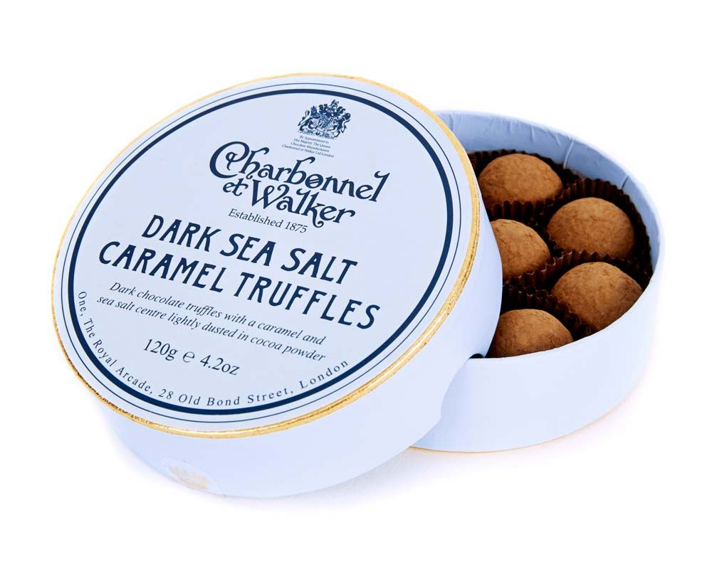 C&W Sea Salt Dark Caramel Truffles