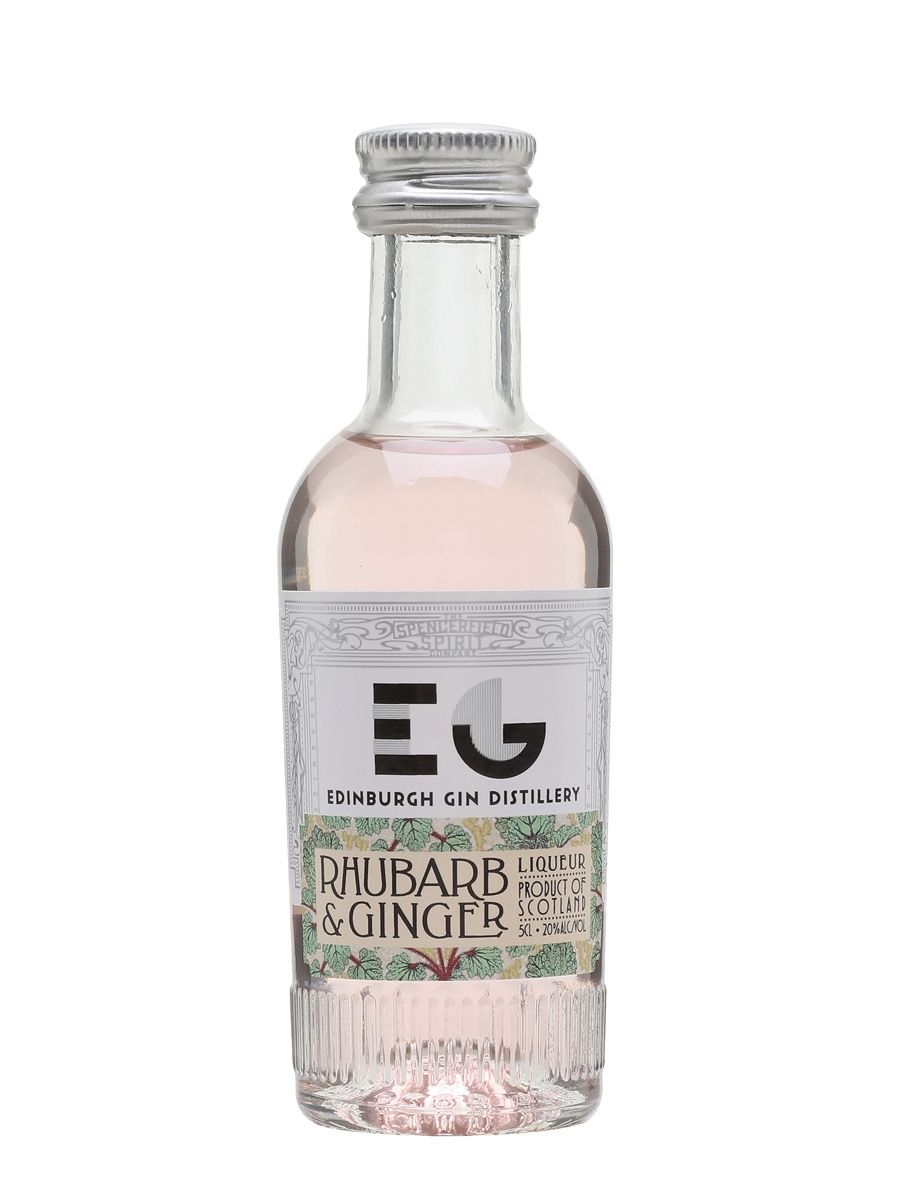 Edinburgh Rhubarb Ginger Gin Miniature