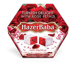 Hazar Baba Rose Petal Turkish Delight