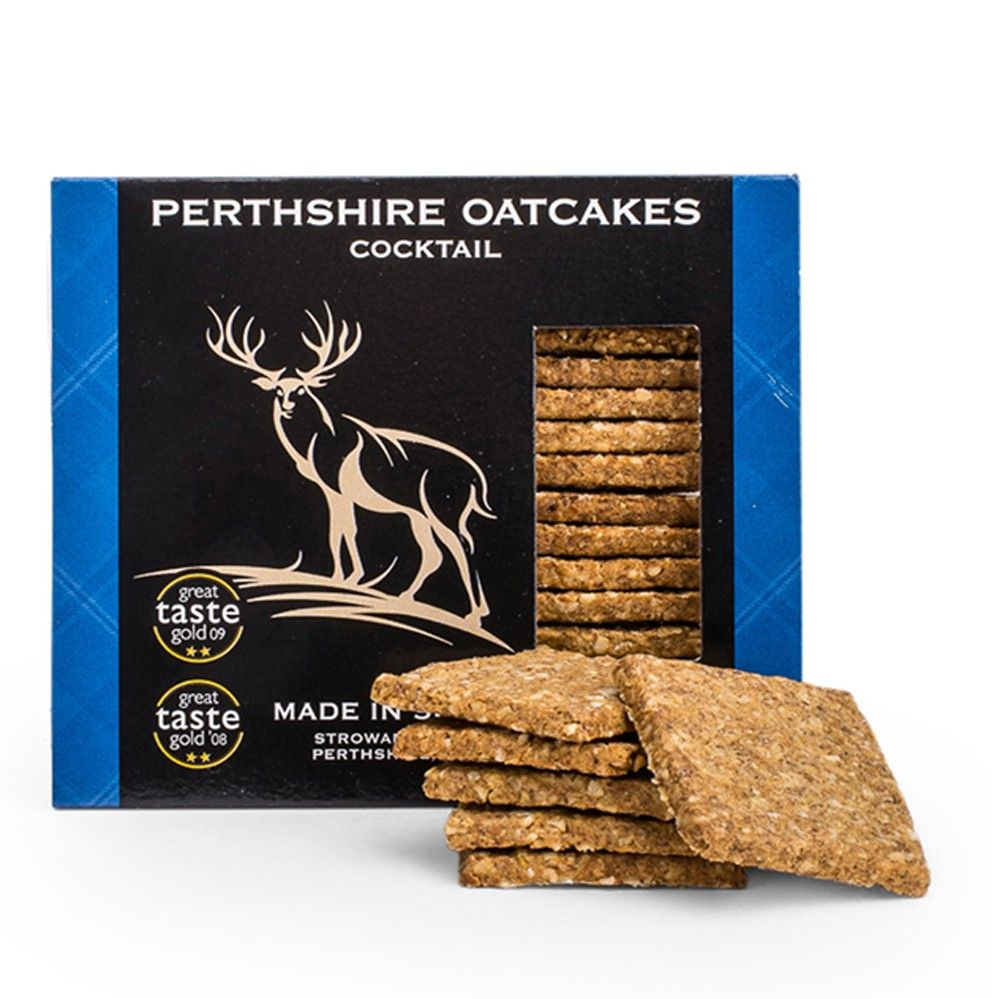 Perthshire Cocktail Oatcakes Savoury Biscuits/Oat