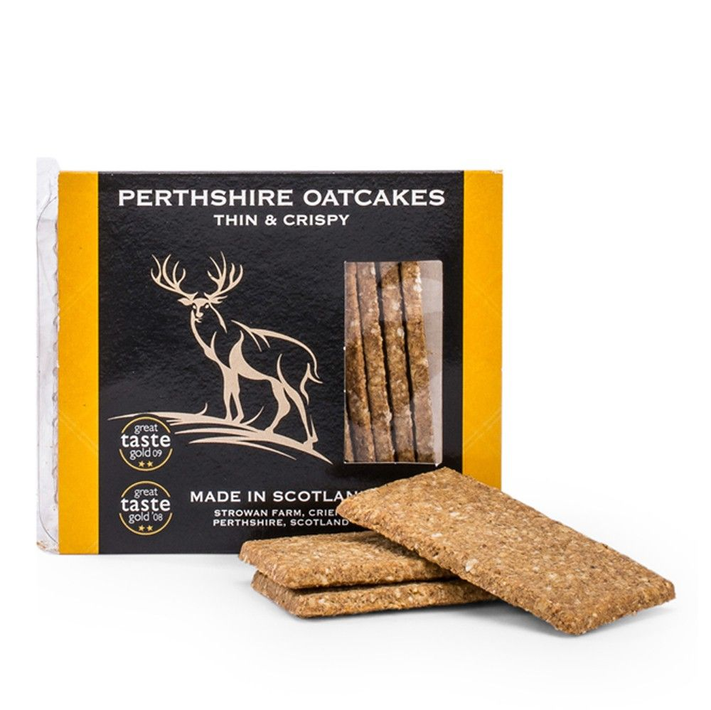 Perthshire Thin & Crispy Oatcakes Savoury Biscuits/Oat