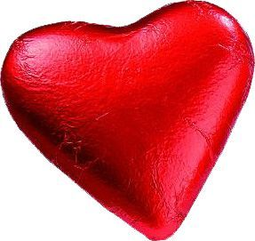 Baur Red Foiled Chocolate Heart