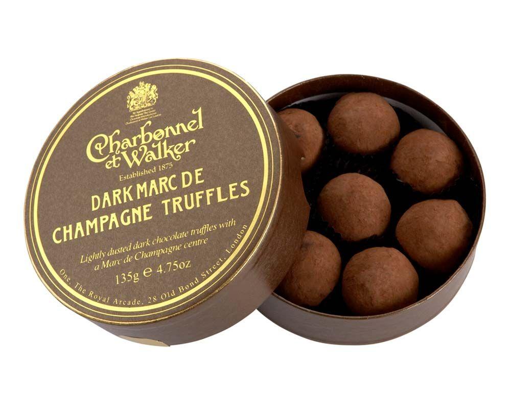 C&W Dark Marc de Champagne Truffles Gifting Chocolates