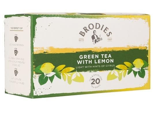 Brodies Green Tea Lemon Tea Bags