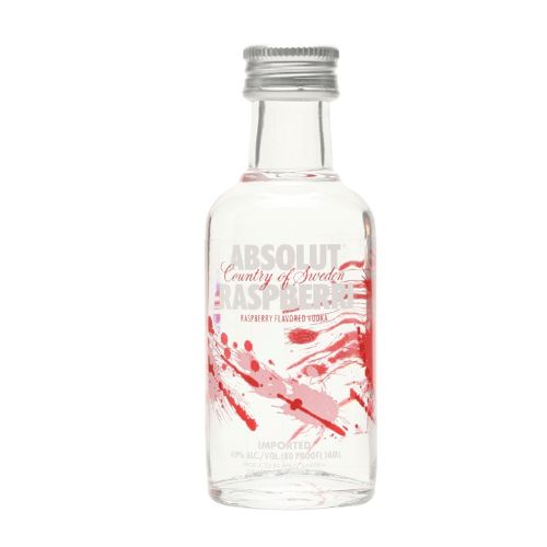 Absolut Raspberry Vodka Miniature