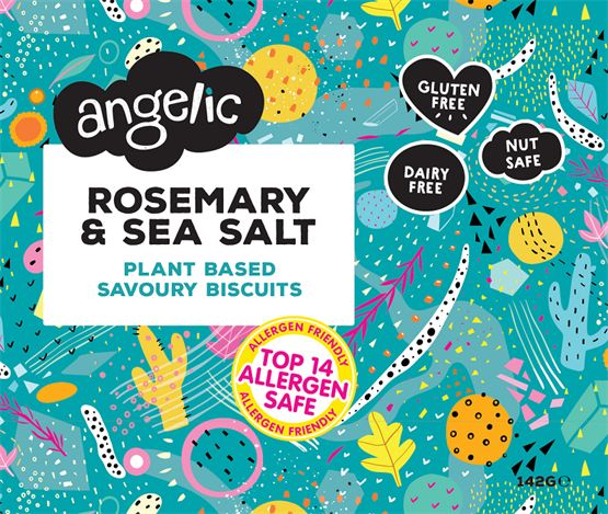 Angelic Rosemary Sea Salt Crackers Savoury Biscuits/Oat