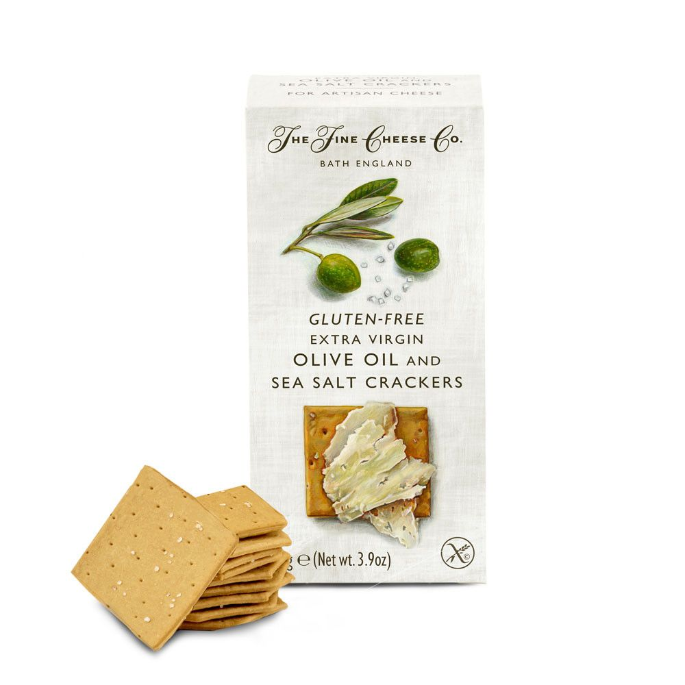 Fine Cheese Gluten Free Sea Salt Cracker Savoury Biscuits/Oat