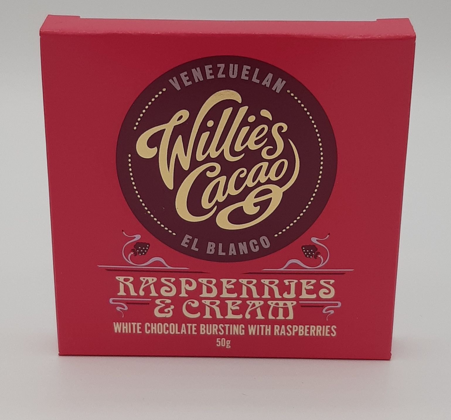 Willie's Raspberry & Cream White Choc