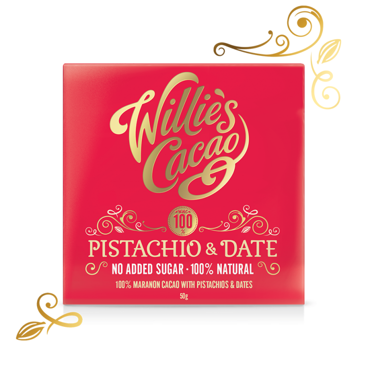 Willie's Pistachio & Date Chocolate