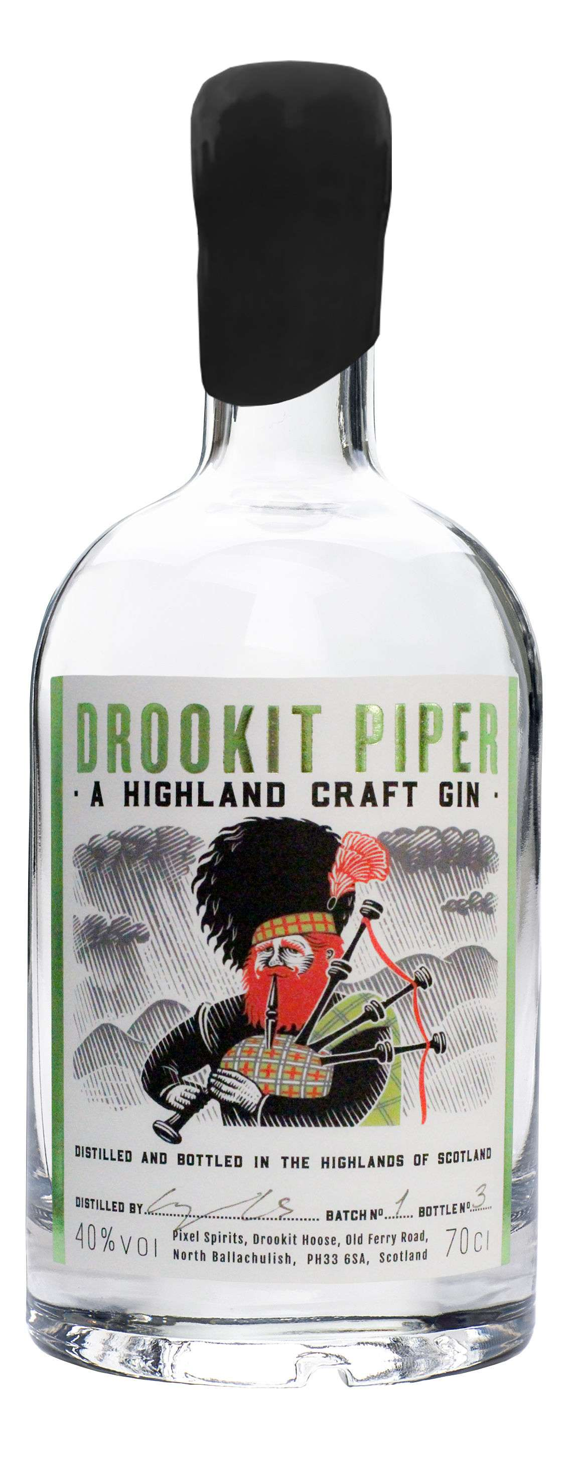Drookit Piper Gin Gins & Gin Liqueurs