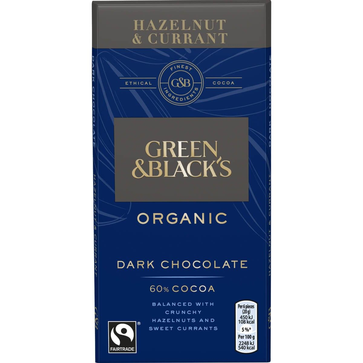 G&B Dark Choc Hazelnut Currants