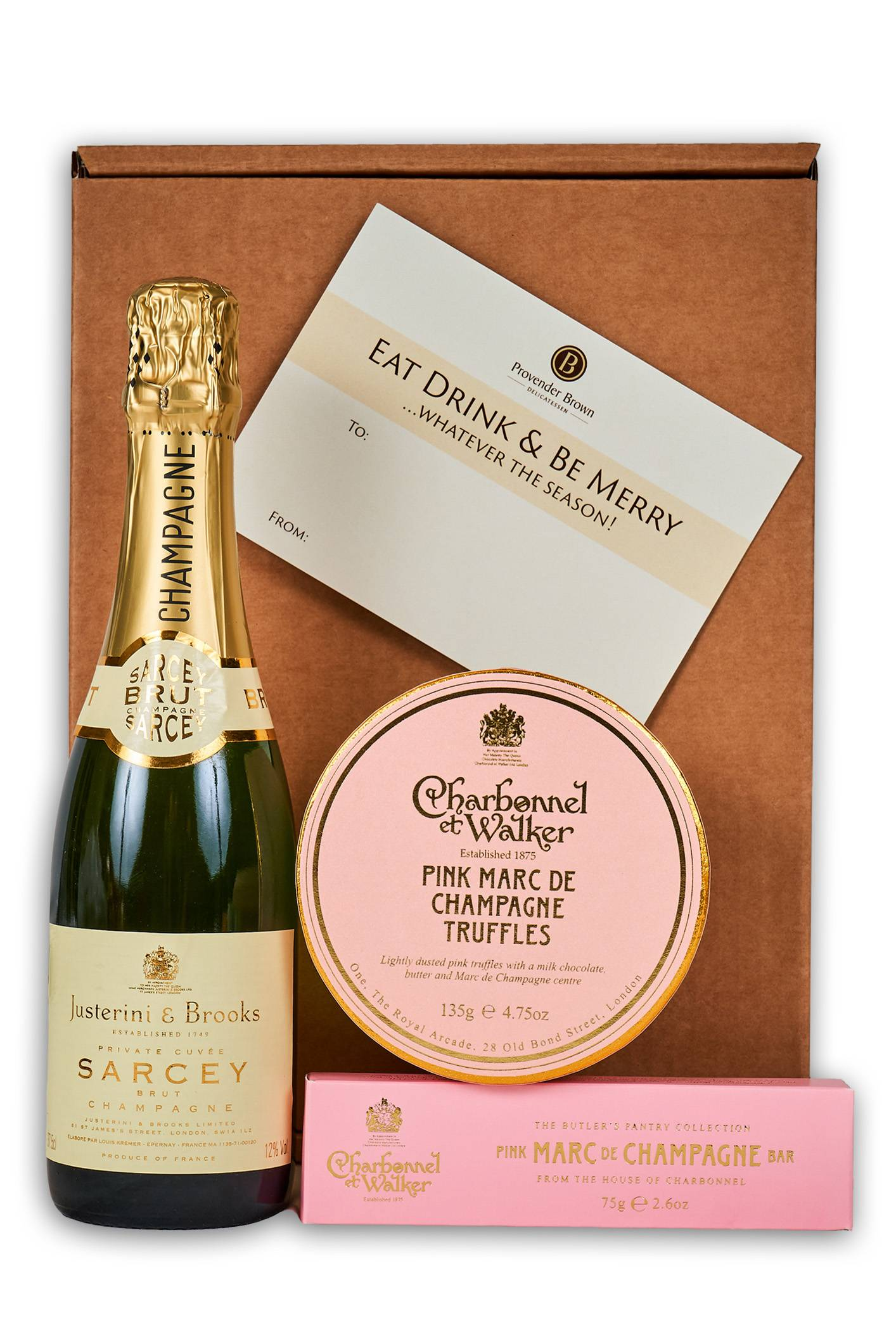 Champagne Truffles & Chocolate Hamper