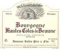Remi Rollin Hautes Cotes de Beaune Rouge Wines