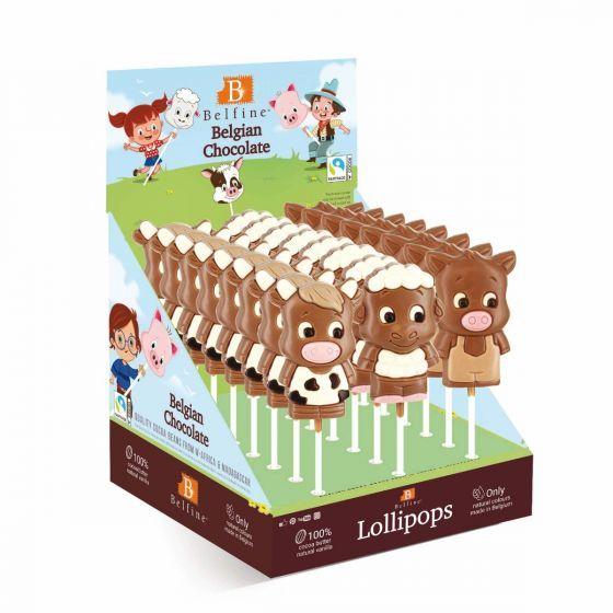 Belfine Belgian Chocolate Farm Lolly