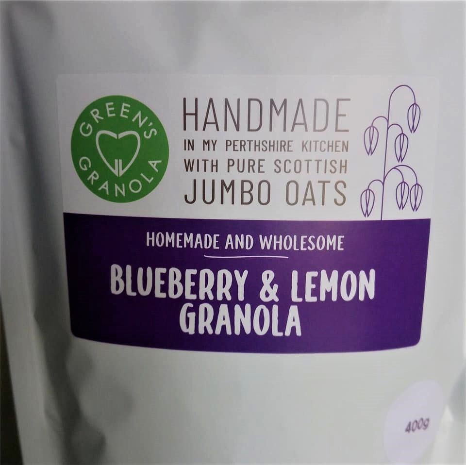 Green's Blueberry & Lemon Granola