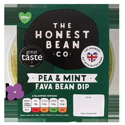 Honest Bean Pea & Mint Fava Bean Dip