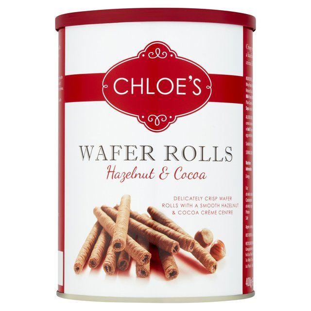 Chloe's Hazelnut & Cocoa Wafer Rolls