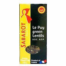 Sabarot Puy Green Lentils AOP Pulses