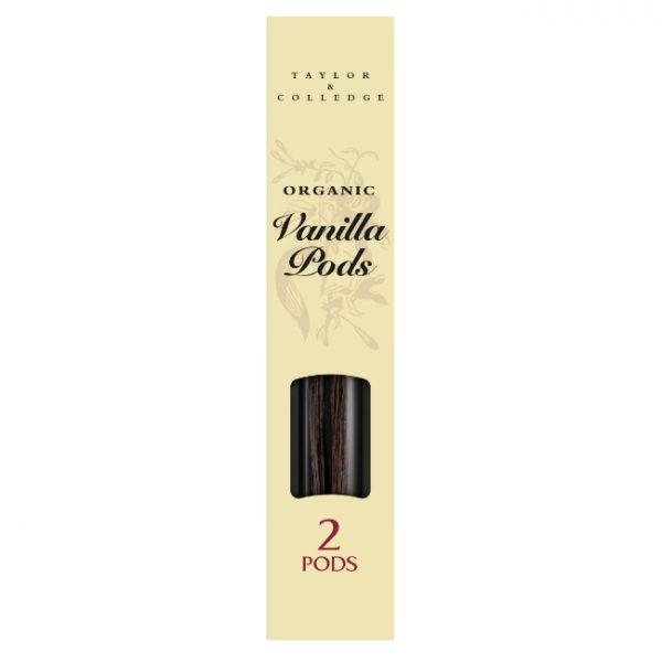 Taylor & Colledge Organic Vanilla Pods