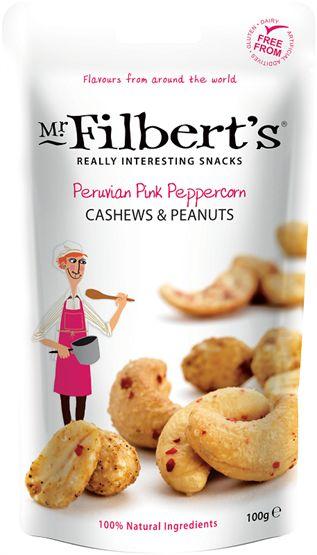 Mr Filbert's Peppercorn Cashews & Peanut