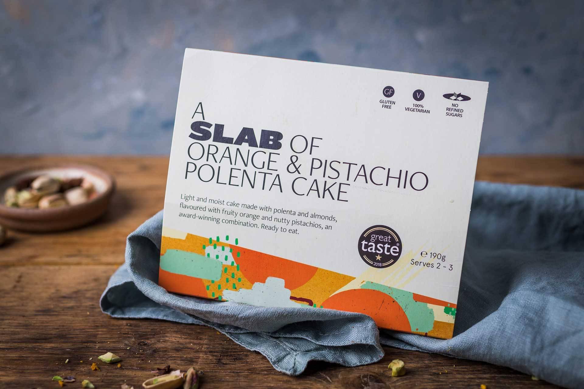 Slab Orange & Pistachio Polenta Cake