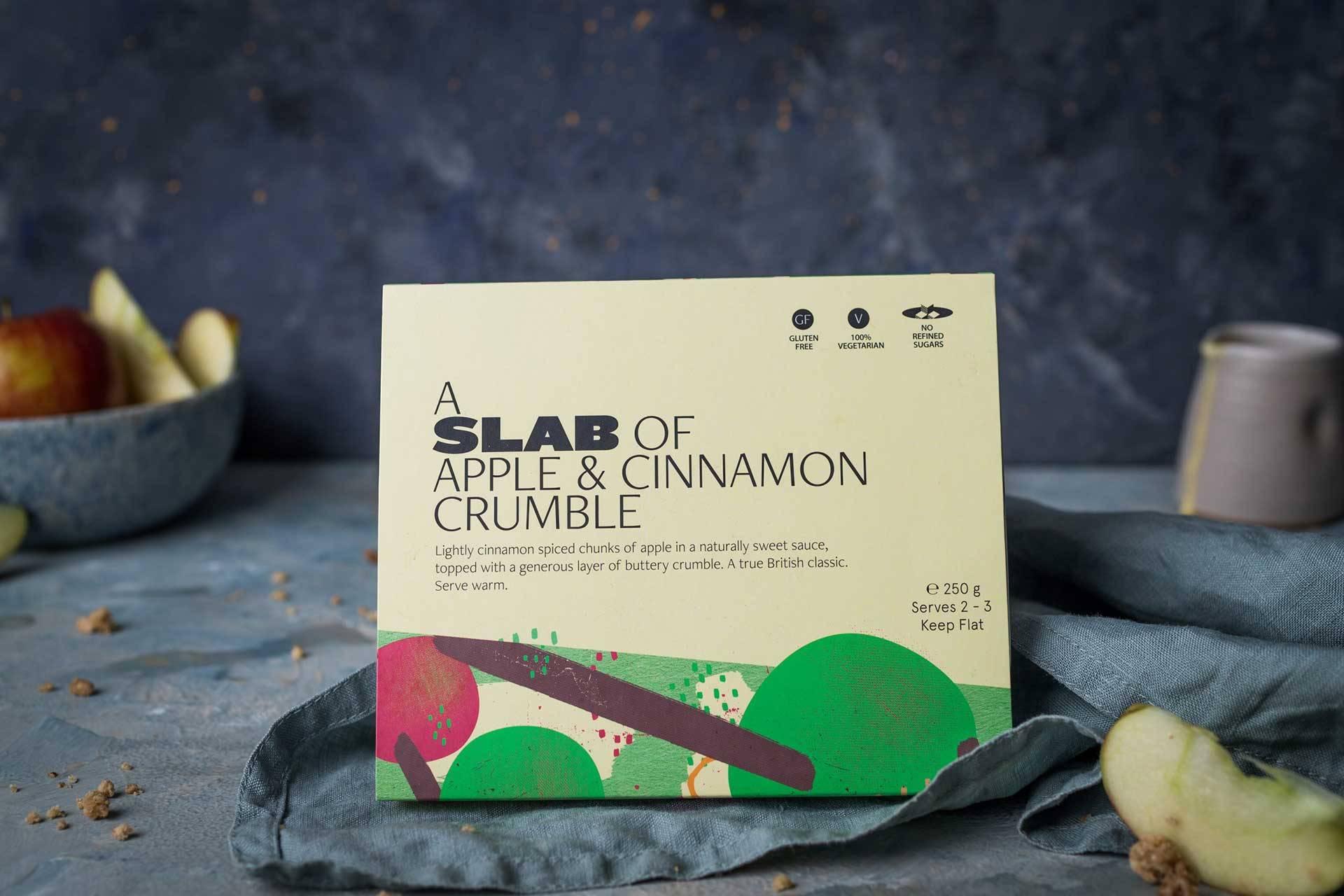 Slab Apple & Cinnamon Crumble Ready Meals Soups Pu