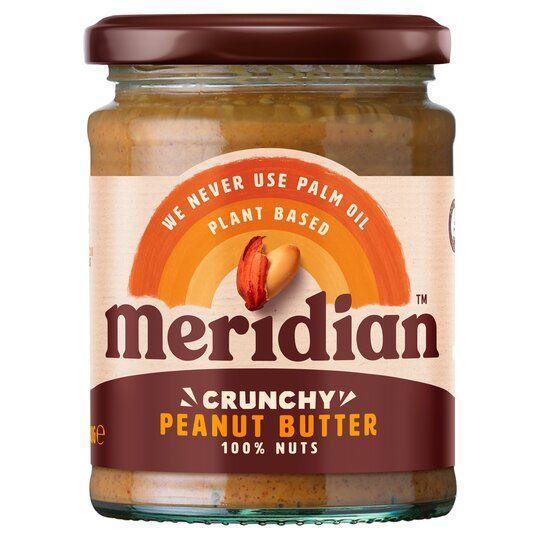 Meridian Crunchy Unsalted Peanut Butter