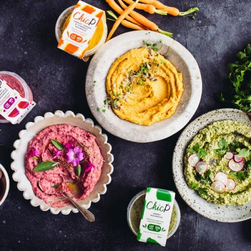 ChicP Raw Veg Houmous